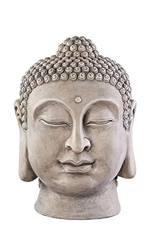 Worldconnection XXL Buddha Kopf Head Figur Steinfigur Skulptur...
