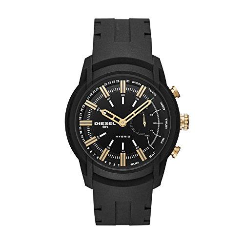 Diesel Herren Analog Quarz Smart Watch Armbanduhr mit Silikon...