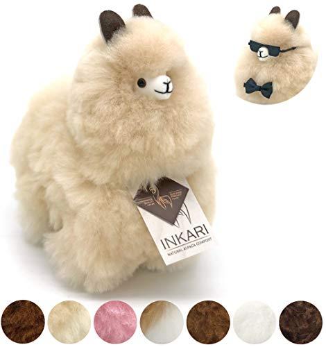 Alpaka Plüschtier aus echter Alpaka-Wolle, handgefertigte...