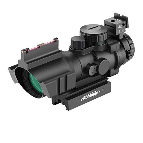 AOMEKIE Zielfernrohr 4x32mm mit Fiberoptic und 20mm/22mm Schiene...