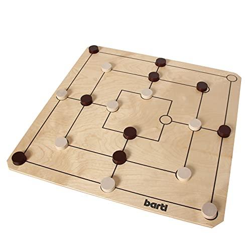 Bartl 107349 Brettspiel Mühle und Dame groß aus Holz XXL Format...