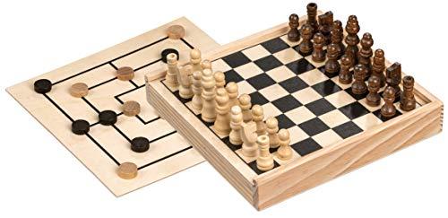 Philos 3094 - Schach-Mühle-Kombination, Mini, Reisespiel,...