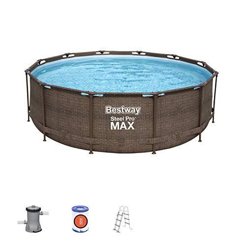 Bestway Power Steel Deluxe 366x100 cm, Frame Pool rund mit...
