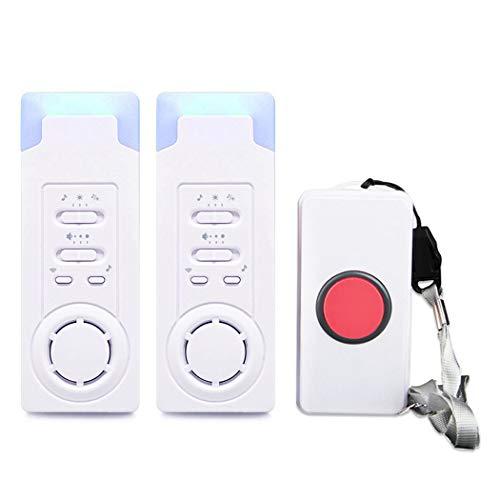 ALEENFOON Haus Wireless Mobiler Alarm Notruf Knopf Pflegeruf-Set...