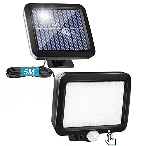 Solarlampen für Außen mit Bewegungsmelder, Solar Aussenleuchte...