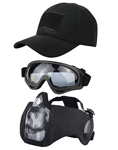 Hodeacc 3 Stück taktische Airsoft-Maske, Schutzbrille,...