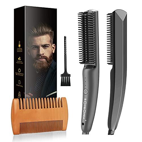 Bartglätter Kamm für Männer, 2 in 1 Multifunktion Elektrische...