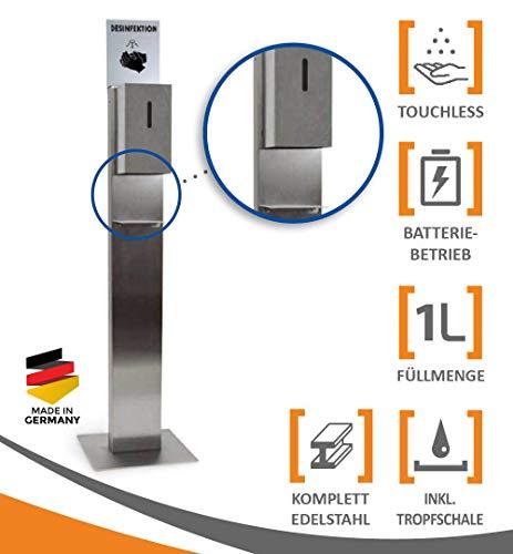 MyMAXXI | Hand Sensor Desinfektionsmittelspender Station STEEL...