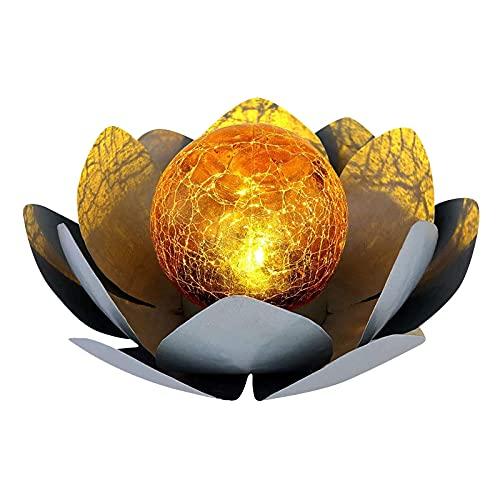 Metallische dekorative Solar Lotus Lampe - angenehm warmweiß...