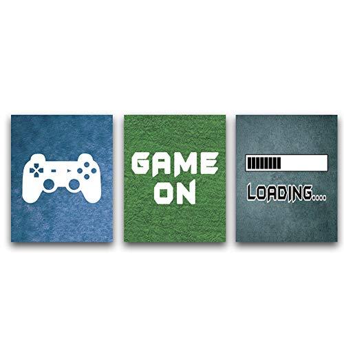KAIRNE 3er Set Gaming Poster,Bilder für Gamer,Videospiel...