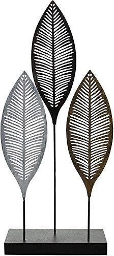 khevga Deko-Figur Deko-Objekt Blätter aus Metall, 50 cm hoch...