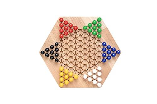Natureich Holz Halma Spielzeug mit Spielfiguren / Montessori...