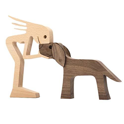 D/L Ravcerol Neueste Holzfiguren Skulptur Ornamente Set,...