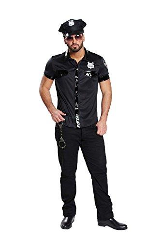 Sexy Polizist Polizei Kost�m Herren Polizeihemd Polizeishirt...