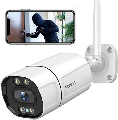 Homeviz 3MP Überwachungskamera Aussen, WLAN IP Kamera 2K Outdoor...