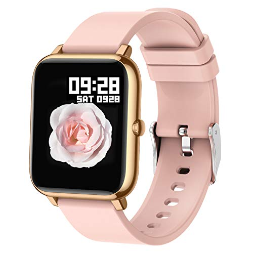 Popglory Smartwatch, Fitness Tracker mit Blutdruckmessung Fitness...