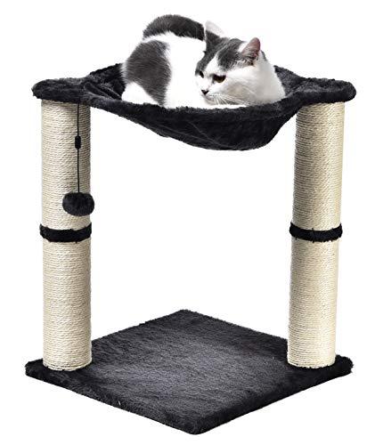 Amazon Basics – Katzen-Kratzbaum mit Haus, Hängematte, Bett...