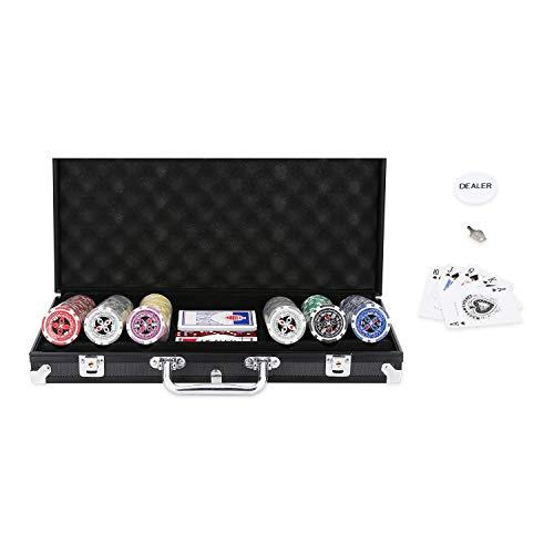 EINFEBEN Pokerchips 500 Chips Laser Pokerkoffer Poker 11.5 Gramm,...