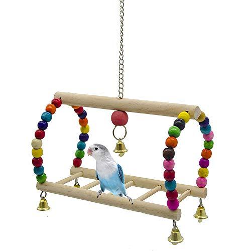 KunLS Wellensittich Spielzeug Vogelkäfig Zubehör Vogelspielzeug...