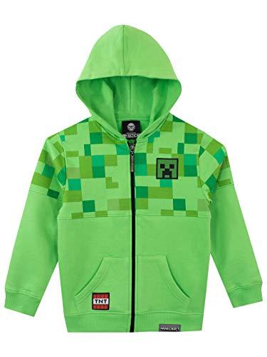 Minecraft Jungen Creeper Hoodie, Grün, 146 (Herstellergröße:...