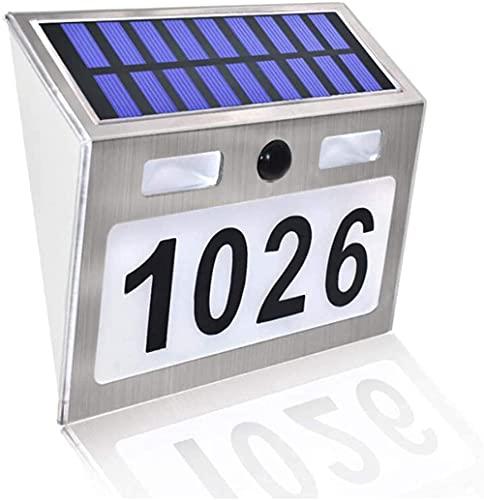 Solarhausnummer Hausnummer LED Solar Außenwandleuchte...