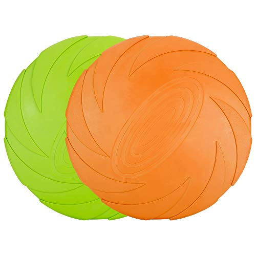 Vivifying Hundefrisbee, 2 Stück 15cm Hunde-Frisbee aus...