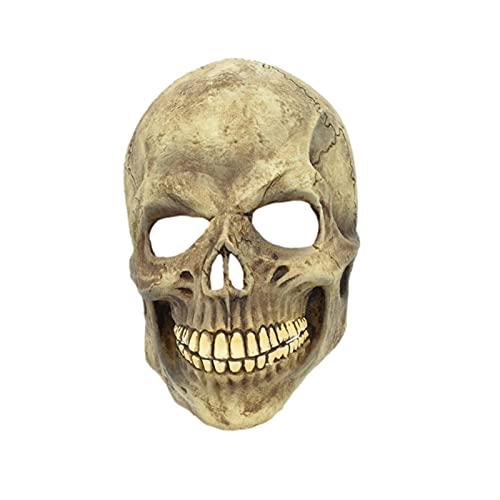 gormyel Full Head Skull Mask/Halloween Helmet with Moving Jaw,...
