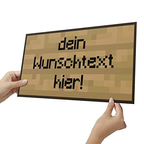 Elbeffekt Holzschild personalisierbares Geschenk für Jungen -...