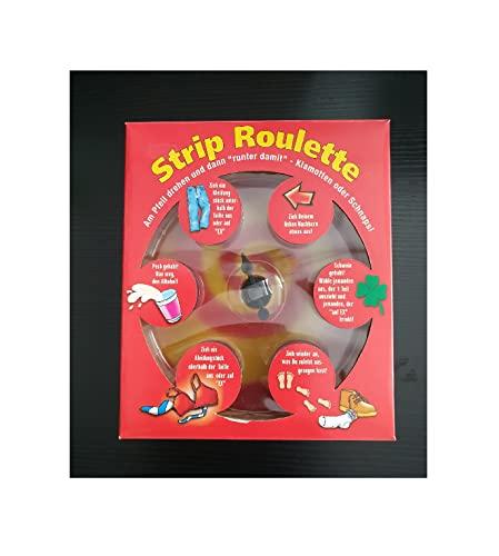 narrenkiste Fu155713 rot Trink Spiel Strip Roulette