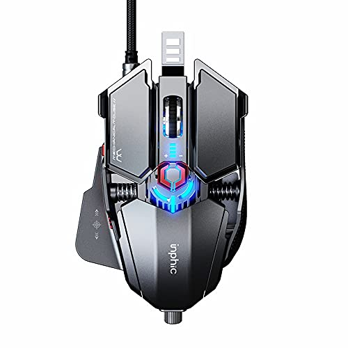 Gaming-Maus, Inphic Wired Mouse für Office oder FPS Gamer,...