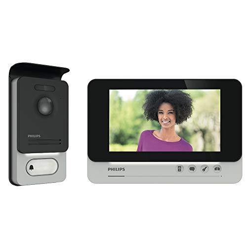 PHILIPS WelcomeEye Comfort Video-Türsprechanlage, mit Kamera, 7...