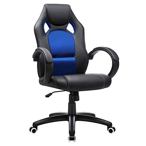 SONGMICS Racing Stuhl Bürostuhl Gaming Stuhl Chefsessel...