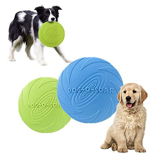 HENGBIRD 2 Stück Dog Frisbee Disc,Weiche Hunde Frisbee,Gummi...