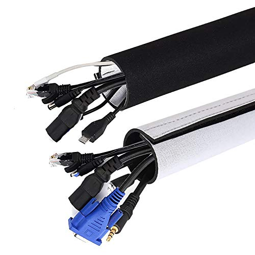 Universal Neopren Klettverschluss Kabelschlauch, 2x1.5 M...