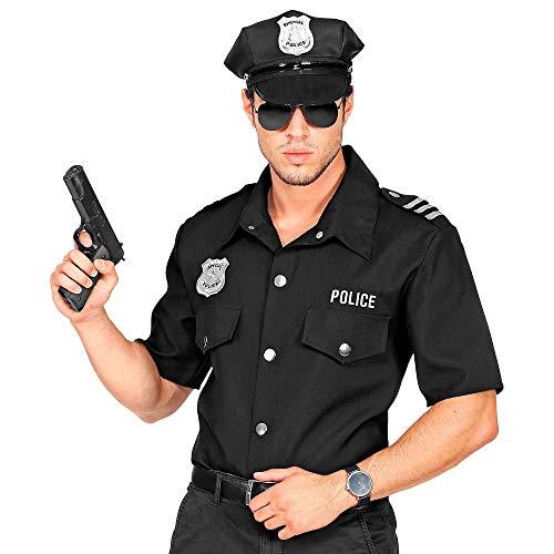 Widmann 11012962 Polizei Shirt für Erwachsene, Herren, Schwarz,...