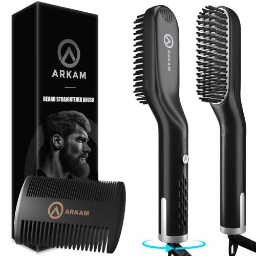 Arkam Ionen Bartglätter für Männer mit Bartkamm - Elektrischer...