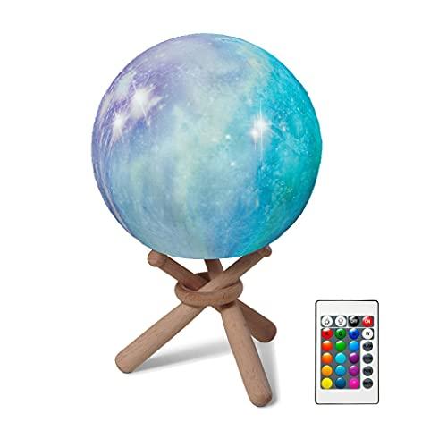 HANBOLI Nachtlicht, Stimmungslicht 3D Mondlicht 3D Druck...