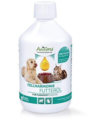AniForte Fellharmonie Futteröl für Hunde & Katzen 500ml -...