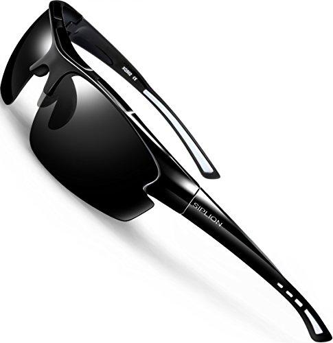 SIPLION Herren Sonnenbrille UV400 Schutz Polarisiert...