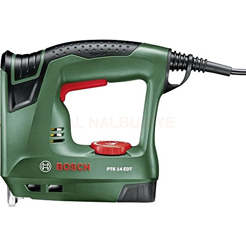 Bosch Elektrotacker PTK 14 EDT, 1000 Klammern, Karton (30 min-1 Schläge, Nägel: 14 mm, 1,1...