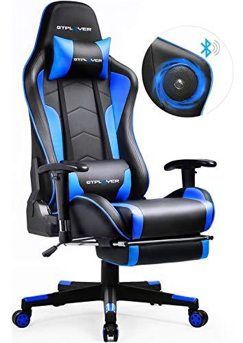 GTPLAYER Gaming Stuhl mit Fußstützen Bluetooth Lautsprecher...