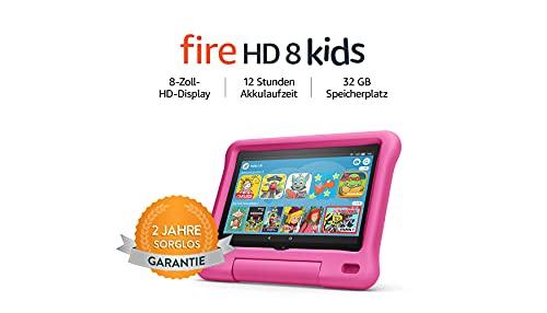 Fire HD 8 Kids-Tablet, 8-Zoll-HD-Display, 32 GB, pinke...