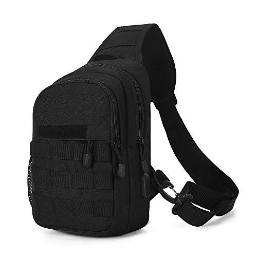 HUNTVP Taktische Brusttasche mit Wasserflasche Halter, USB...