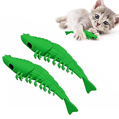 EKKONG Katzen Zahnbürste, Katze Fischform Zahnreinigung...