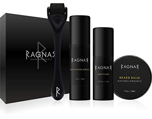 RAGNAR - Bart Set | Bartwuchsmittel für Männer | Bartwuchs...
