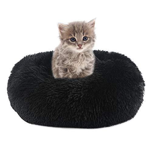Vanansa Hundebett für Hunde und Katzen, Rundes Katzenbett Donut...