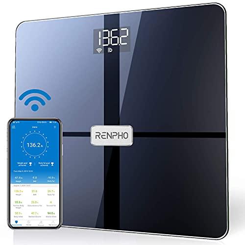 RENPHO WLAN-Smart-Waage Bluetooth Körperfettwaage, Personenwaage...