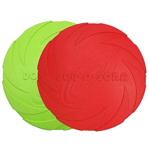Vivifying Hundefrisbee, 2 Stück 18cm Hunde-Frisbee aus...