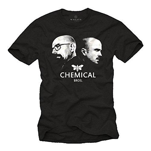 Breaking Bad T-Shirt für Herren Chemical BROS. Schwarz Größe L