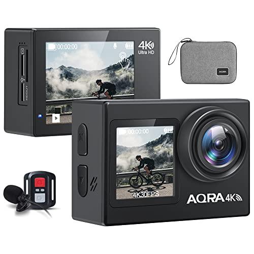 Action cam, Unterwasserkamera, 4K 24MP / 30FPS Touchscreen Action...